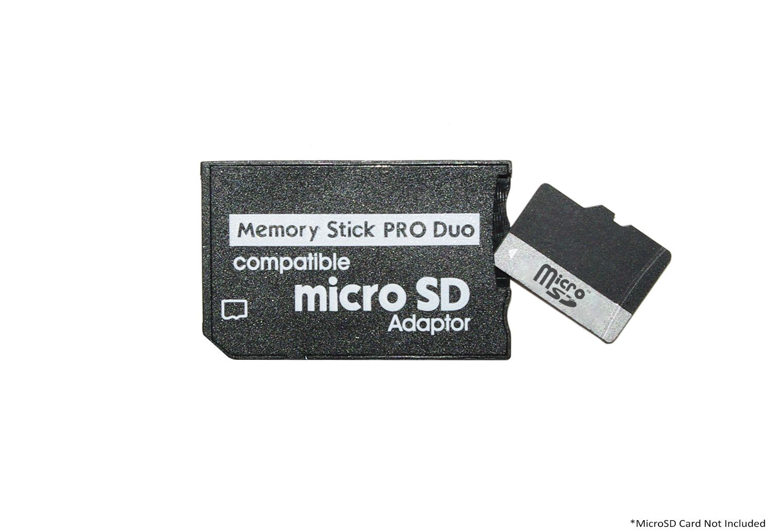 Neon Microsd To Ms Pro Duo Adapter Supports Microsdhc Memory Card Sony Psp 8gb Stick