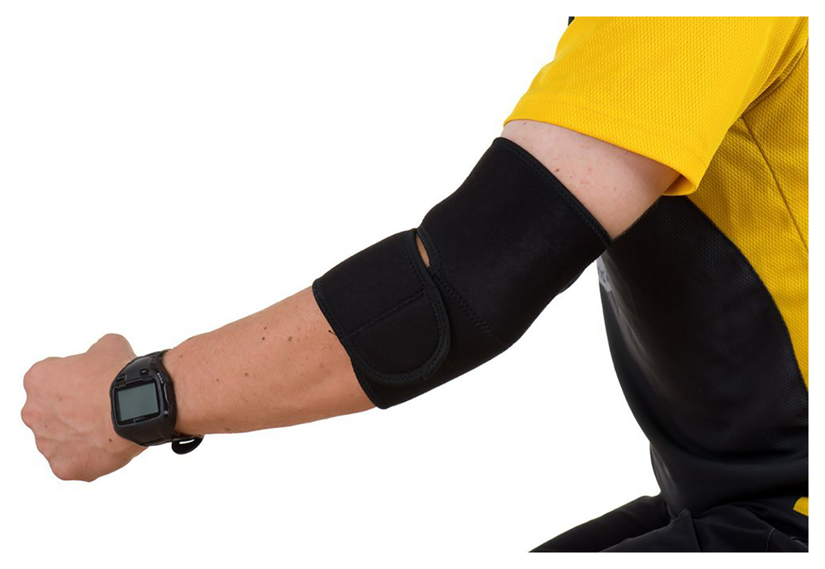 Black One Size EyezOff Neoprene Ankle Support with Velcro Closing