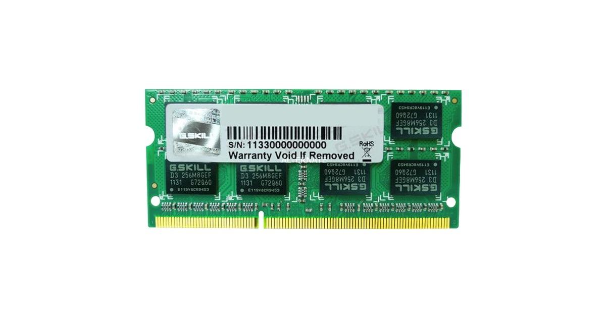 Laptop Memory DDR3 1600 F3-1600C10D-16GSQ PC3-12800 RAM 1 Stick G.Skill 8GB