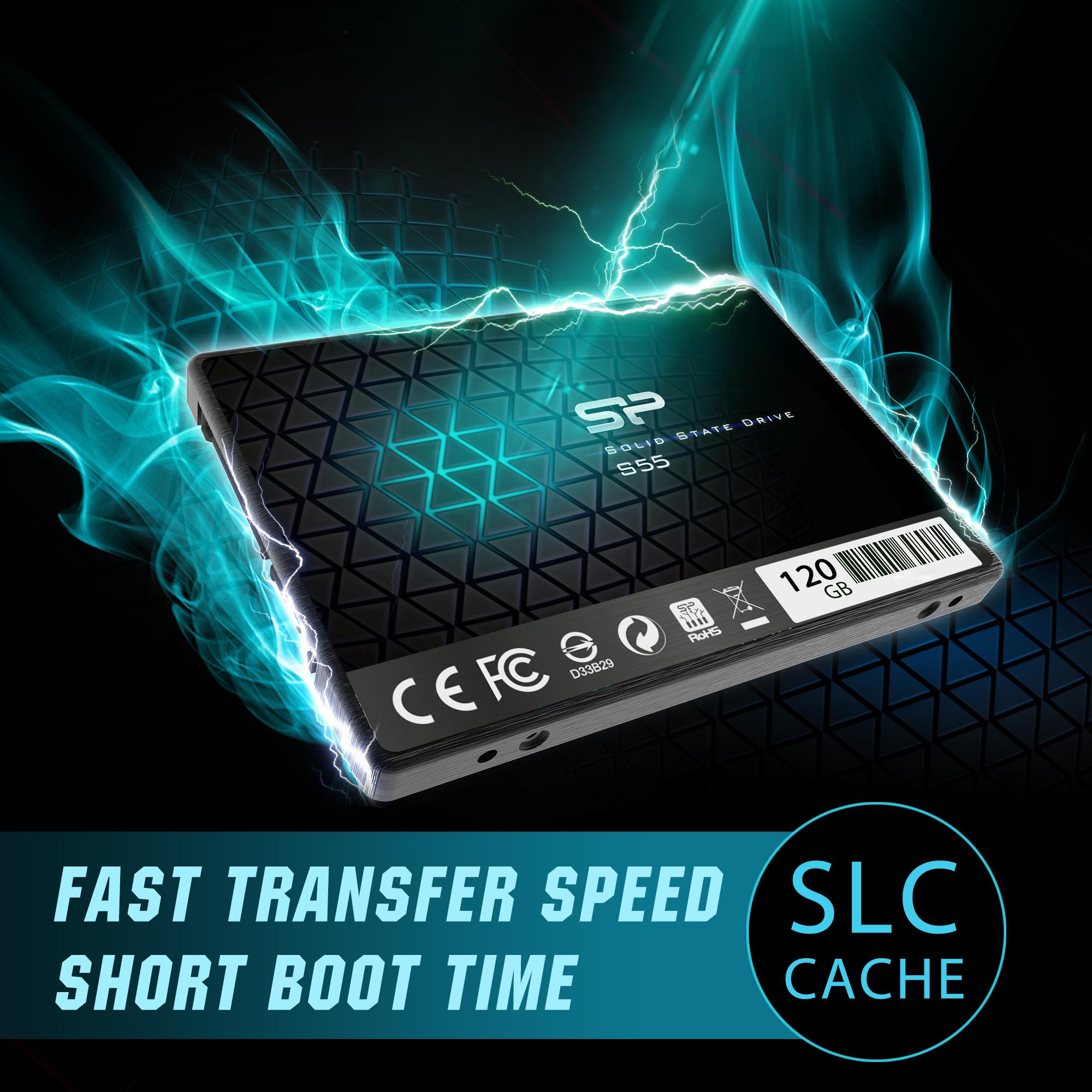 120GB-Silicon-Power-SATA3-SSD-S55-2-5-034-TLC-Slim-7mm-read-write-520-370MB-sec thumbnail 3