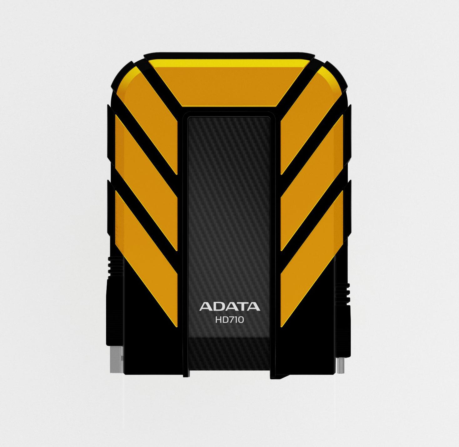 1tb Adata Dashdrive Durable Hd710 Usb30 Portable Hard Drive Yellow Black