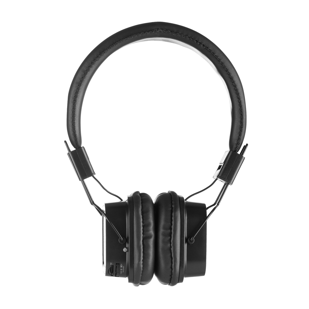 7021b98816c NGS Artica Jelly Bluetooth Stereo Headphones with Micro SD Card Slot - Black