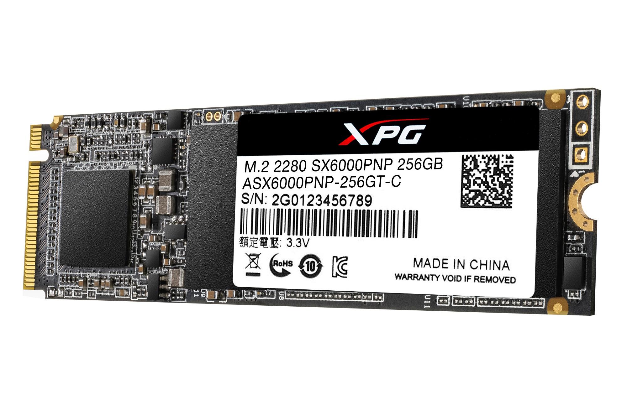 XPG SX6000 Lite M.2 2280 512GB PCIe NVMe Gen3x4 Internal Solid State Drive SSD