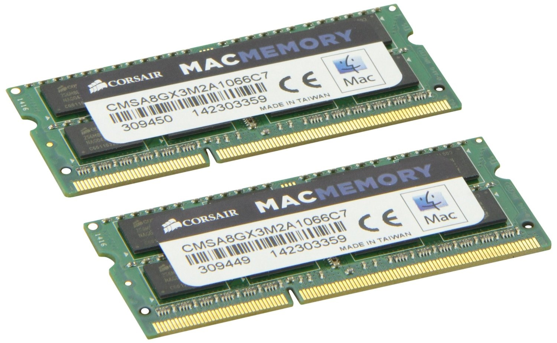 8GB Corsair DDR3 1066MHz Mac Laptop Memory Upgrade Kit (2x 4GB) PC3-8500