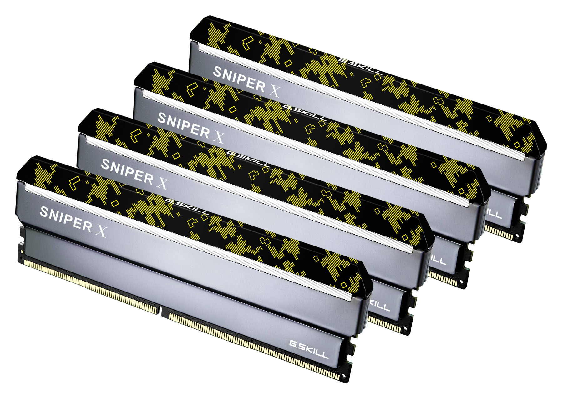 64GB G Skill DDR4 3600MHz Sniper X PC4-28800 CL19 Quad Channel Kit (4x  16GB) Digital Camo