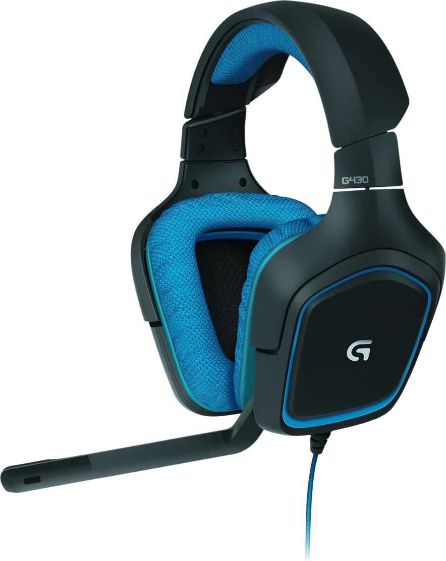 Logitech G430 Surround Sound Gaming Headset Blue, Black