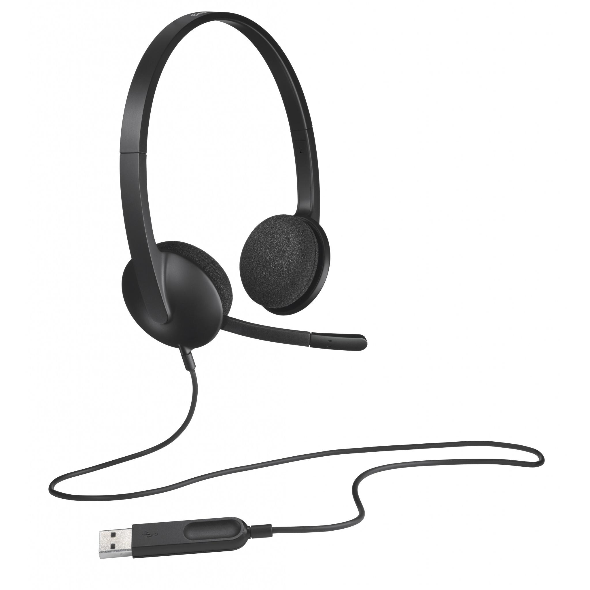 Logitech H340 USB3.0 Binaural filaire casque - noir