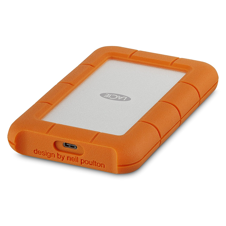 2tb Lacie Rugged Mini External Hard Drive Usb 3 1 Type C Orange