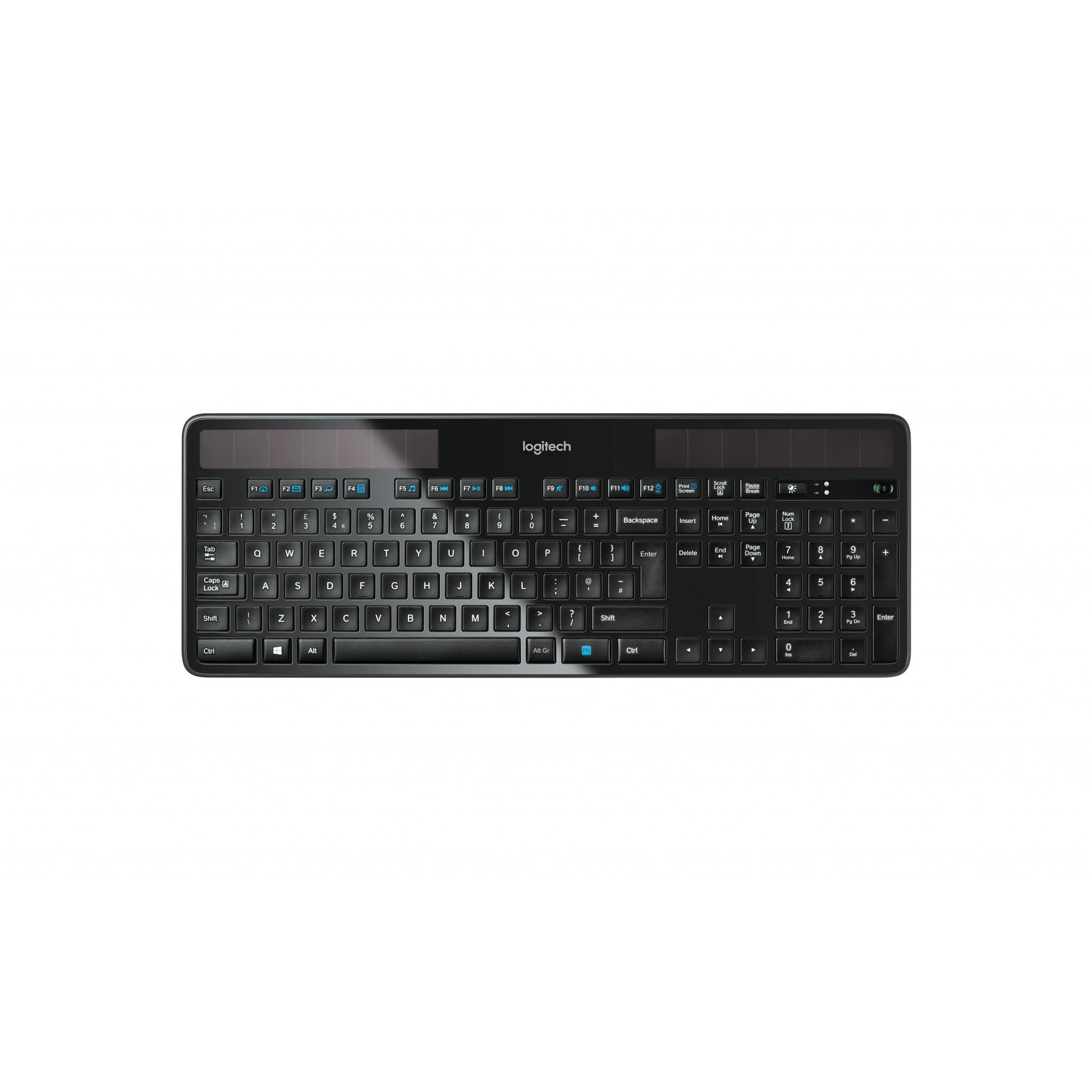 Logitech K750 Wireless Solar Keyboard - Spanish Layout QWERT