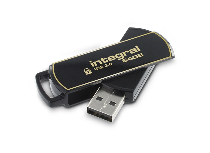 64GB Integral Secure 360 Encrypted USB3.0 Flash Drive