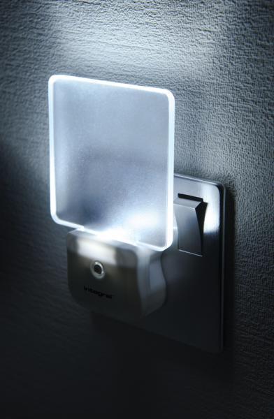 Integral Auto Sensor Led Night Light Eu 2 Pin Plug