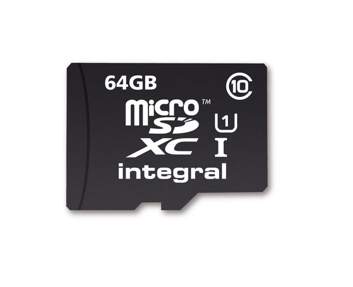 64GB Integral microSDXC CL10 Ultima Pro (40MB/s) mobile phone memory card