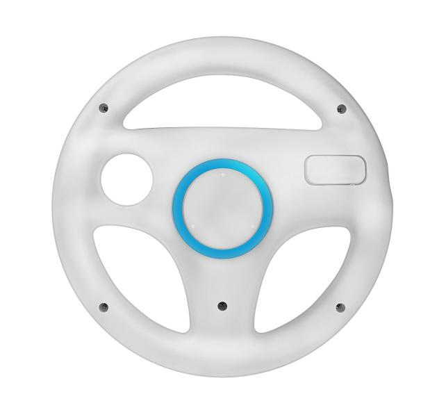 Racing Steering Wheel For Nintendo Wii White Colour