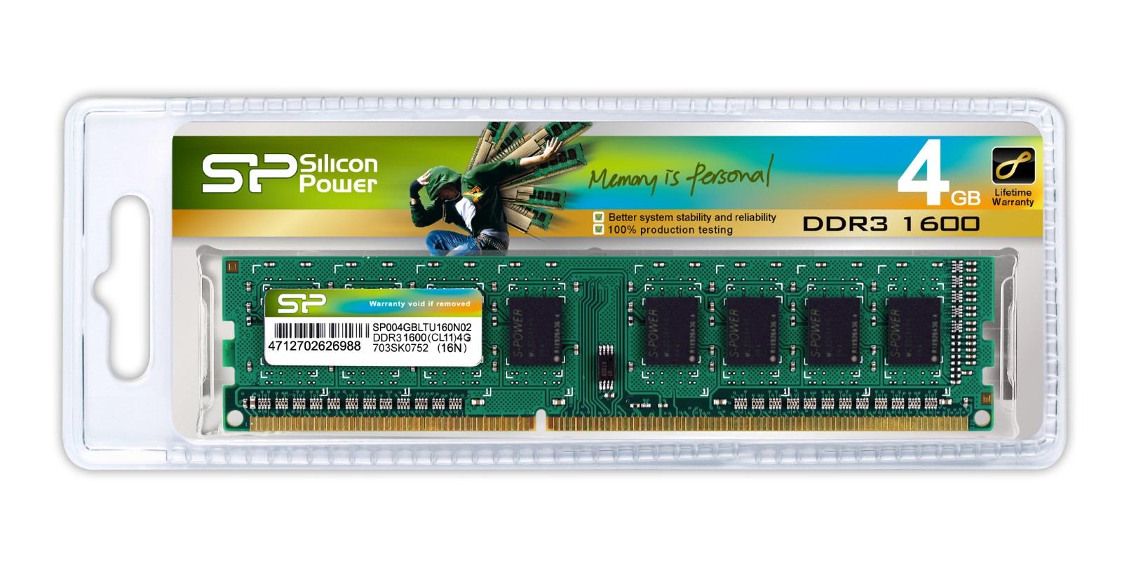 4gb Silicon Power Ddr3 1600mhz Pc3 12800 Desktop Memory Module Cl11 Ram Pc Smart 2gb 240 Pins
