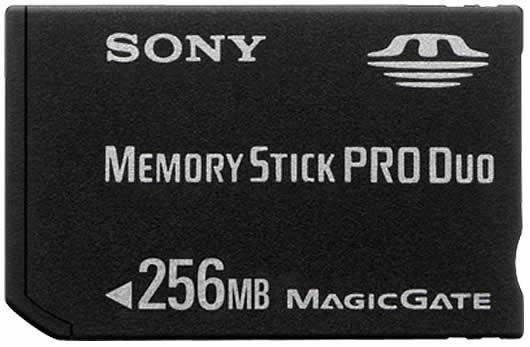 256MB Memory Stick PRO Duo Sony # Wasbak Pro Duo_113022