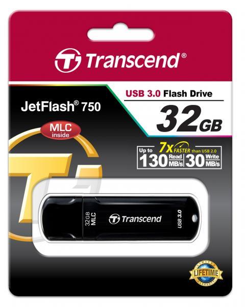 32GB Transcend JetFlash 750 Ultra-fast USB3.0 Flash Drive