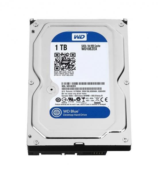 """WD Blue Mainstream 1TB 7200RPM SATA III 6Gb//s 3.5/"""" Internal Hard Drive Desktop"""