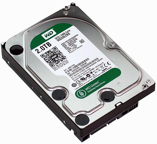 Western Digital Wd Green Wd20ezrx 2tb Intellipower 64mb