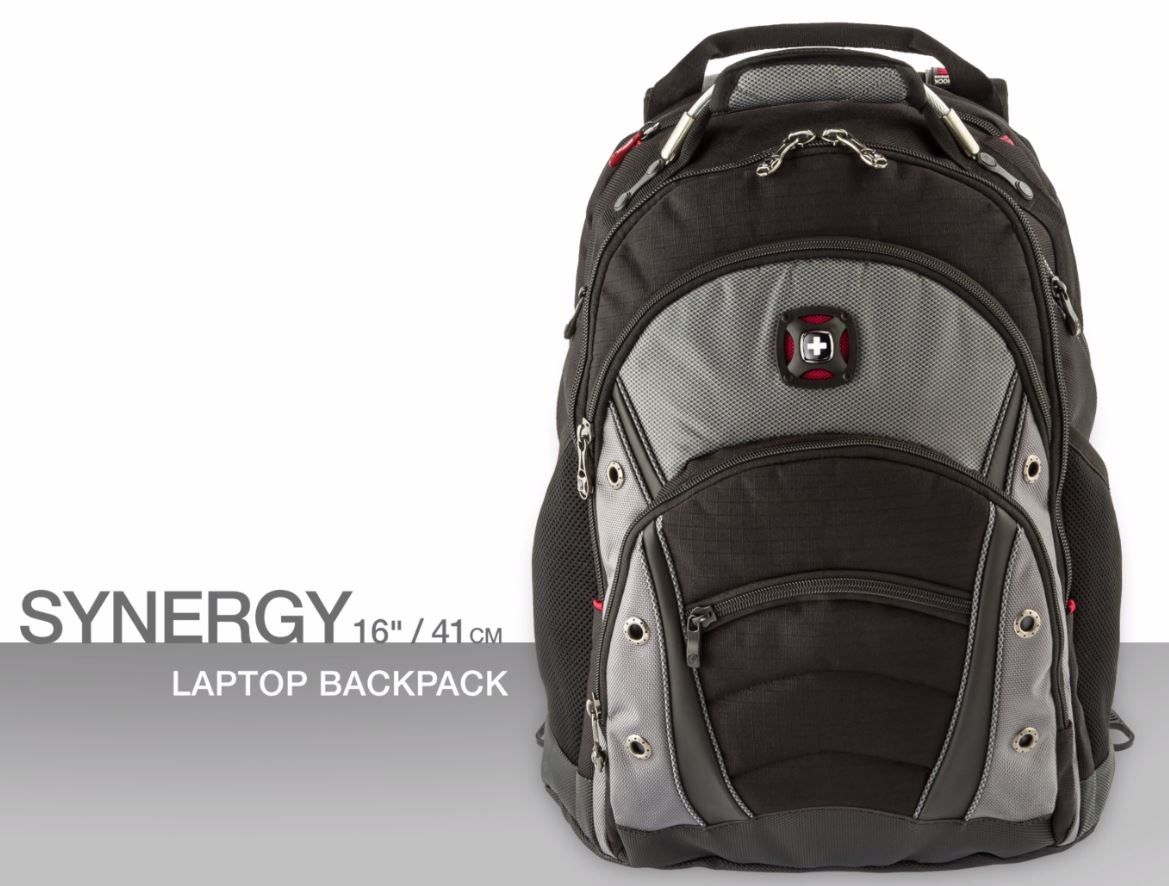 Swissgear Synergy 16 inch Laptop Backpack BlackGrey GA